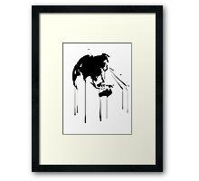 Splatter Earth 2 (black) Framed Print