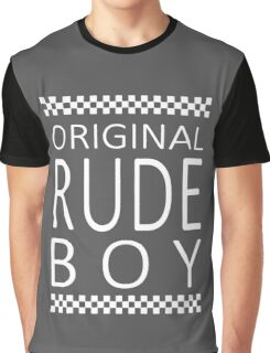 Original Rude Boy Mens ringer Style Graphic T-Shirt