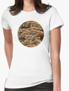 Turkey Tail Shelf Fungus Womens Fitted T-Shirt