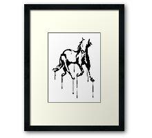 Splatter Horse (black) Framed Print