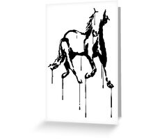 Splatter Horse (black) Greeting Card