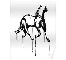 Splatter Horse (black) Poster