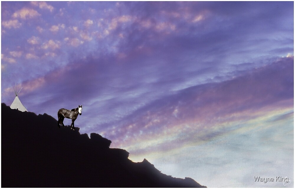 Spirit Pony in Setting Sun by Wayne King