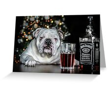 Todays bulldog is brought to you by Jack  Daniels wiskey  Greeting Card