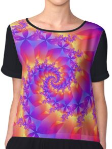 Multi-Coloured Spiral Fractal Chiffon Top