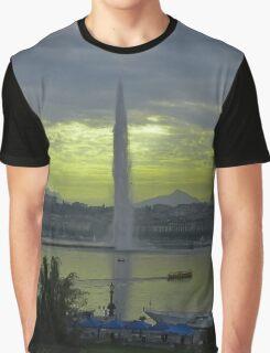 Geneva Cityscape  Jet d'Eau Graphic T-Shirt