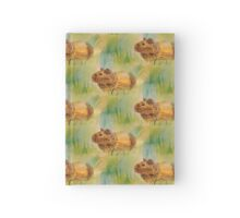 Hamster Watercolor Pattern Design Hardcover Journal