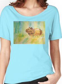 Hamster Watercolor Pattern Design Women's Relaxed Fit T-Shirt