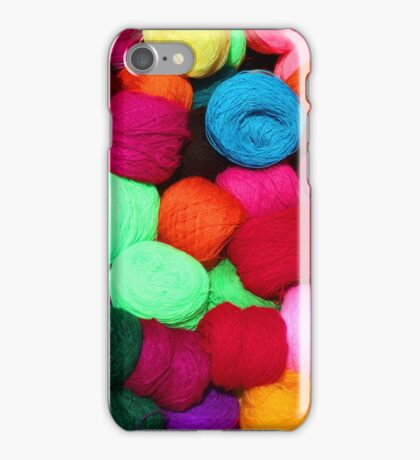 Colorful Skeins of Wool iPhone Case/Skin