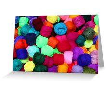 Colorful Skeins of Wool Greeting Card