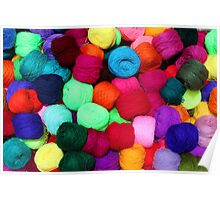 Colorful Skeins of Wool Poster