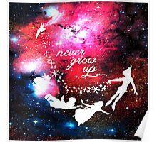 Never Grow Up Galaxy Poster