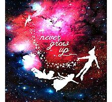 Never Grow Up Galaxy Photographic Print