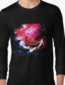 Never Grow Up Galaxy Long Sleeve T-Shirt