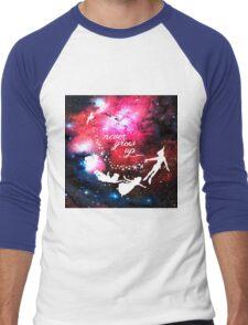 Never Grow Up Galaxy Men's Baseball ¾ T-Shirt