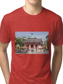 Temple of Time in Tokyo Tri-blend T-Shirt