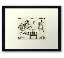 Steam Fire Engine-1896 Framed Print