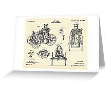 Steam Fire Engine-1896 Greeting Card