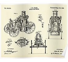 Steam Fire Engine-1896 Poster
