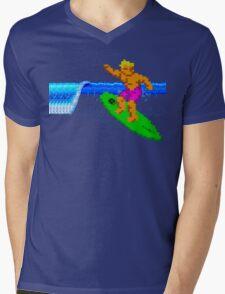 CALIFORNIA GAMES - SURFING - MASTER SYSTEM Mens V-Neck T-Shirt