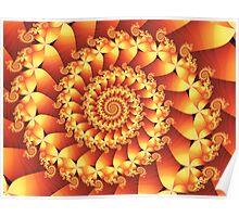 Fire Spiral Poster