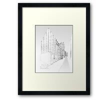 Pencil Drawing of A New York State of Mind Framed Print
