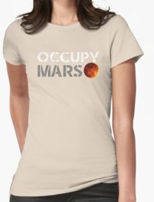 elon musk occupy mars Womens Fitted T-Shirt