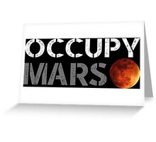 elon musk occupy mars Greeting Card