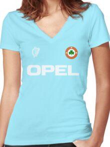 Ireland Italia 90 Women's Fitted V-Neck T-Shirt