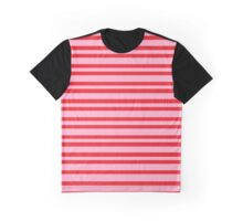 Bicolor 2: Red and pink Graphic T-Shirt