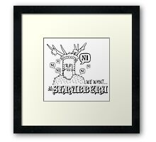 We Want A Shrubbery - Nights Who Say Ni Framed Print