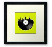 new york city record Framed Print