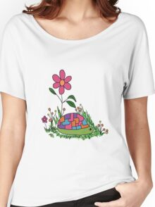 Turtle In the Flowers Women's Relaxed Fit T-Shirt