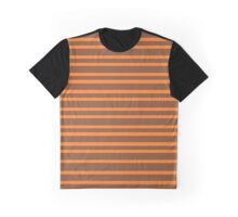 Bicolor 3: Brown and orange Graphic T-Shirt
