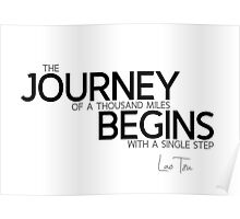 journey begins - lao tzu Poster