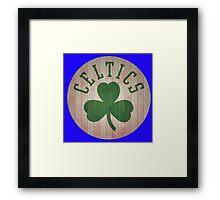 boston celtic logo Framed Print