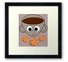 Funny coffee and cookies Framed Print