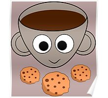 Funny coffee and cookies Poster