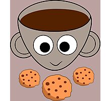 Funny coffee and cookies Photographic Print