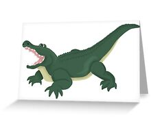 Alligator Excited Greeting Card