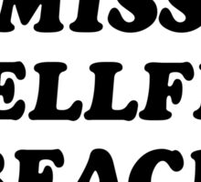 Miss Shellfish Beach Sticker