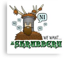 We Want A Shrubbery - Nights Who Say Ni COLOUR Canvas Print