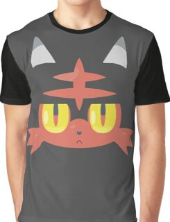 Fire Cat Monster Graphic T-Shirt