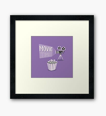 Cinema motion picture. Movie time. Framed Print