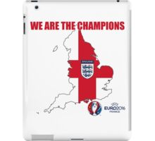 ENGLAND WE ARE THE CHAMPIONS FOOTBALL 2016 iPad Case/Skin