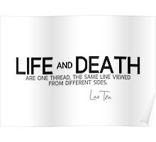 life and death - lao tzu Poster