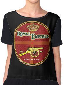 Royal Enfield motorcycles made like a gun Chiffon Top