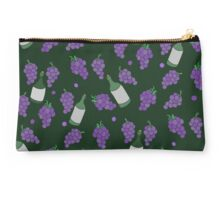 Wine drinking pattern purple grapes and wine Studio Pouch