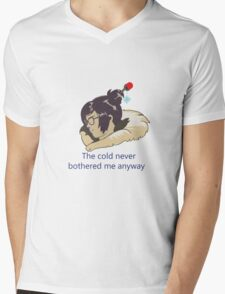 Cold woman Mens V-Neck T-Shirt