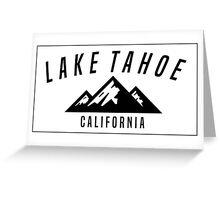 LAKE TAHOE CALIFORNIA DECAL Mountain Skiing Ski Snowboard Snowboarding Greeting Card